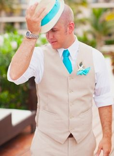 accessories (groom's), ties, boutonniere, groom, suits, polkadot, peacock, hats, Summer, elegant