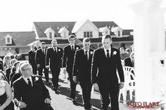 Groomsmen walking up aisle Woods Golf, What A Beautiful Day, Outdoor Ceremony, Groomsmen, Golf Clubs, Walking, Guys, Concert, Walks