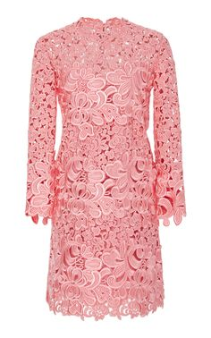 Embroidered Lace Cutout Dress by ERMANNO SCERVINO Now Available on Moda Operandi