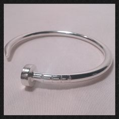 Manly Nail Cuff in Sterling Silver. I love this look for myself or my husband.