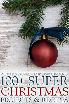 100 Super Christmas Projects & Recipes all in one place! You're going to love this collection of links! Christmas Time Is Here, Christmas Is Coming, Christmas Love, All Things Christmas, Winter Christmas, Christmas Bulbs, Christmas Ideas, Christmas Recipes, Merry Christmas