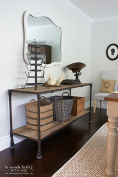 I just love this so much...Industrial Vintage French Dining Room with Source Guide | So Much Better With Age