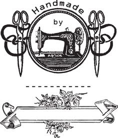 Primitive printables on pinterest primitive labels for Machine a coudre 807