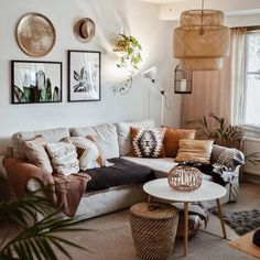 Bohemian Latest And Stylish Home decor Design And Life Style Ideas Interior Design Living Room Warm, Living Room Designs, Living Room Inspiration, Home Decor Inspiration, Boho Living Room, Living Room Decor, Decor Room, Cozy House, Scandinavian Living