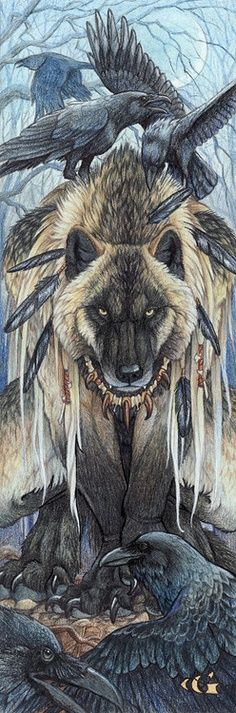 19) Raven and Wolf...