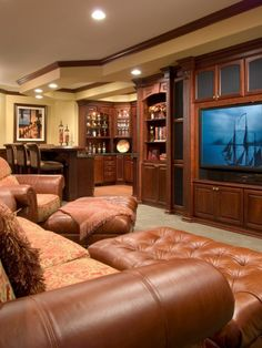 Traditional Basement Design, Pictures, Remodel, Decor and Ideas - page 14