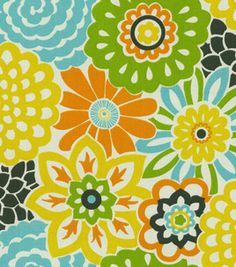 Home Decor 8''x 8''Swatch Print Fabric- Waverly Button Blooms Confetti & Home Decor Memo Swatches at Joann.com