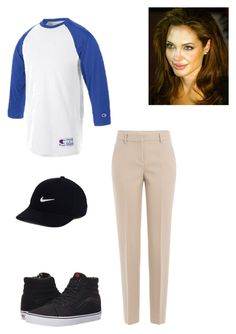 """Untitled #195"" by yasminabuwi on Polyvore featuring DKNY, Vans, Champion and NIKE"