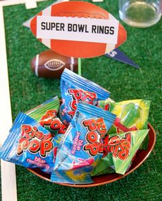 Having people over to watch the games this weekend? Here's a fun party favor for guests of all ages to enjoy!