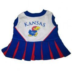Kansas Jayhawks Cheerleader Outfit for Dogs