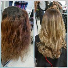 #flamboyage by me cabello cuidado con #Olaplex