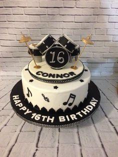 Ideas Birthday Cake For Men Music Drum Kit Drum Birthday Cakes, Birthday Cakes For Men, Drum Cake, Guitar Cake, Bolo Musical, Music Cakes, Pinterest Cake, Birthday Cake Pictures, Novelty Cakes
