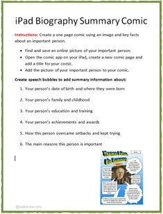 On pinterest biography biography project and cereal boxes