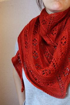 Shawl pattern for purchase on ravelry.  Roses are Red - part of a series.