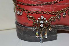 Brass Boot Jewelry Boot Bling Boot Bracelet by CowgirlUpLadies, $15.00