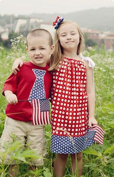 Matching Brother Sister Outfits. Patriotic