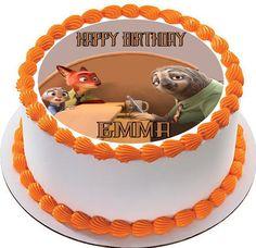 Zootopia 3 Edible Birthday Cake Topper OR Cupcake Topper, Decor