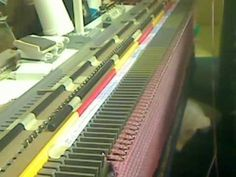 Video showing how to turn 114 stitches with the homemade Bobby pin Garter bar for the Bond Knitting machine, by HeidiMargret.