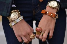 Bracelets + Rings + Watch