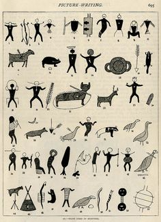 """freakyfauna: """" Signs used in hunting (presumably by the Iroquois) From Strand Magazine (1895). Found here. """""""