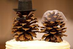 Pinecone cake topper