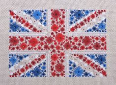 Crossstitch Pattern of the British Flag  by CherryLnDesigns, $12.00