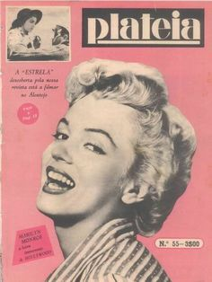Marilyn Monroe on the cover of Plateia magazine, 1953, Portugal. Cover publicity photo of Marilyn  for Clash By Night by Rod Tolme, 1952.