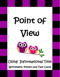 """This 46 page """"Point of View Using Informational Text"""" packet is loaded with task cards, worksheets, graphic organizers, posters, and activities to help your students more fully understand the concept of Point of View, while also practicing reading strategies like inferring, main idea and compare and contrast. The unit targets Common Core RI 3.6, 4.6, and 5.6 by using firsthand and secondhand accounts taken straight out of some the most interesting events in American history."""