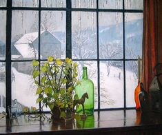 """Photo from album """"Robert Strong Woodward"""" on Yandex. Still Life Painting, Art Society, Window Drawing, Painting, Winter Painting, City Art, Art Walk, Through The Window, Looking Out The Window"""