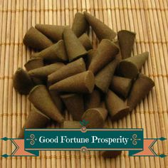 Good Fortune Prosperity Incense Cones - Hand Dipped Incense Cones by CherryPitCrafts on Etsy