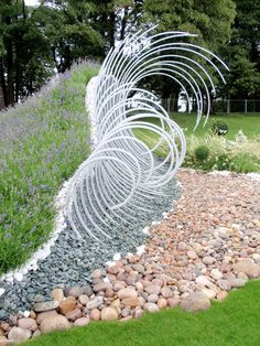 #landarch Wave Dance' (Gold) designed by John Everiss at Tatton Park
