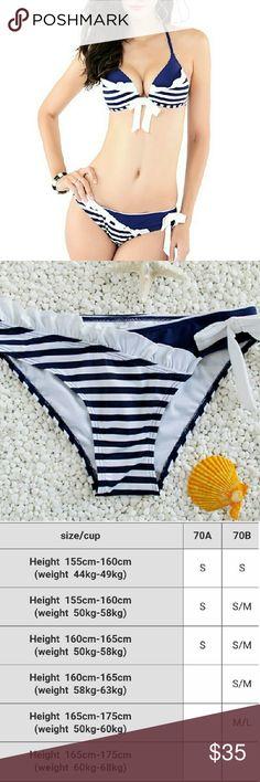 Nylon Bathing Suit Blue And White Striped Tatt Dec Nylon Bathing Suit Blue And White Striped Tatt Decoration Bikinis Suits For Women Pretty Girls European Style Bikinis Swim