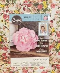 Sizzix Framelits Dies Large Peony on Mercari David Tutera, Card Making Supplies, Tim Holtz, Happy Planner, Planner Stickers, Paper Flowers, Cardmaking, Stampin Up, Paper Crafts