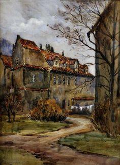 In a quiet garden Malostranský, Braunerová Zdenka. Czech (1858 - 1934)