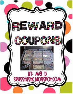 So many great ideas to use as rewards!!! - m