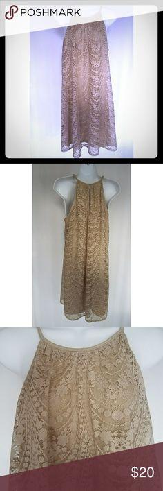 London Times Dress Crochet dress worn twice. Armpit to armpit 18 in Shoulder to hem 37 in London Times Dresses
