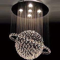 Modern Crystal 5 Light Chandelier In Tellurion Design – USD $ 169.99
