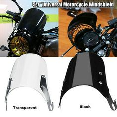 Advertisement Ebay 5 7 Universal Motorcycle Headlight Windshield Windscreen Fit For Yamaha Suzuki Motorcycle Headlight Windshield Suzuki