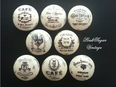 Vintage Handmade Kitchen Knobs Drawer Pulls Paris France Shabby Chic Cottage French Provincial Farmhouse on Etsy, $41.54 CAD