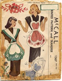 McCall 1367 Misses 1940s Appliqued Heart Shaped by CynicalGirl, $18.00