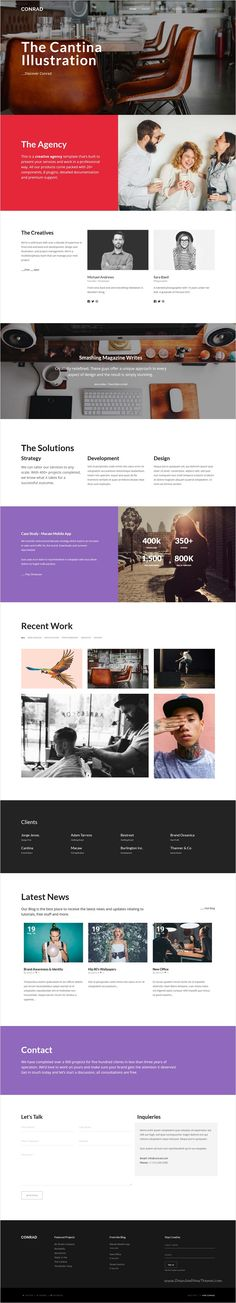 Conrad is a beautifully design multi-page / #onepage responsive #WordPress #template for multipurpose website with a variety of layouts download now➩ https://themeforest.net/item/conrad-creative-multipurpose-wordpress-theme/17826674?ref=Datasata