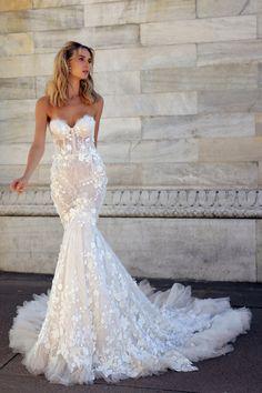 BERTA Milano classic is part of Wedding dresses - Wedding Dress Trends, Fall Wedding Dresses, Bridal Dresses, Wedding Gowns, Mermaid Gown Wedding, Berta Bridal, Bridal Fashion Week, Lace Dresses, Dream Dress