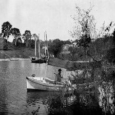 Um dos igarapés de Manaus. Álbum do Amazonas 1901-1902.
