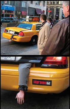 Advertising with Taxi for #Sopranos #HBO