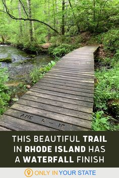 This easy Rhode Island trail is a beginner-friendly hike with beautiful boardwalks and a waterfall finish. You'll also love the rock stairs! Vacation Destinations, Vacation Spots, Vacation Ideas, Road Trip Florida, Cascade Falls, Natural Waterfalls, Camping And Hiking, Rhode Island, Perfect Place