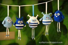 Crochet bird and owl