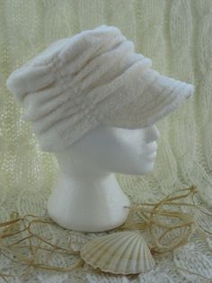 Ultra soft Ivory Fleece 'Ruched Style' by CoralWearCreations, $40.00