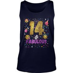 Emoji 14th birthday Shirt Gift For Her - 14 & Fabulous Shirt #gift #ideas #Popular #Everything #Videos #Shop #Animals #pets #Architecture #Art #Cars #motorcycles #Celebrities #DIY #crafts #Design #Education #Entertainment #Food #drink #Gardening #Geek #Hair #beauty #Health #fitness #History #Holidays #events #Home decor #Humor #Illustrations #posters #Kids #parenting #Men #Outdoors #Photography #Products #Quotes #Science #nature #Sports #Tattoos #Technology #Travel #Weddings #Women