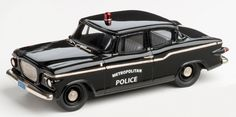 Brooklin Models Lansdowne 1/43 scale model of the1960 Studebaker Lark Washington DC Police Car diecast in white metal with photo-etched details.