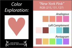 Eva Maria Keiser Designs: Explore Color:  New York Pink